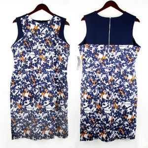 NEW MARGARET M Floral Sleeveless Sheath Dress 1X